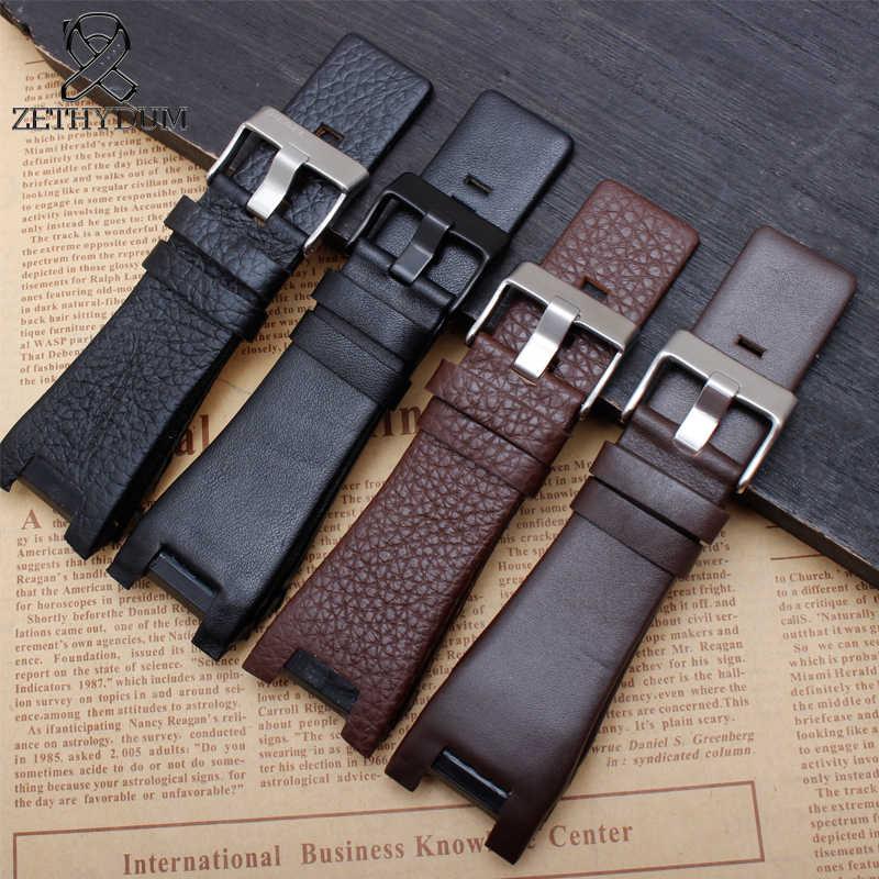 Di alta qualità del cuoio genuino della fascia del braccialetto 32*18 millimetri cinturino di vigilanza per il diesel watch band per DZ1273 DZ1216 DZ4246 DZ4247 DZ287 cinghia