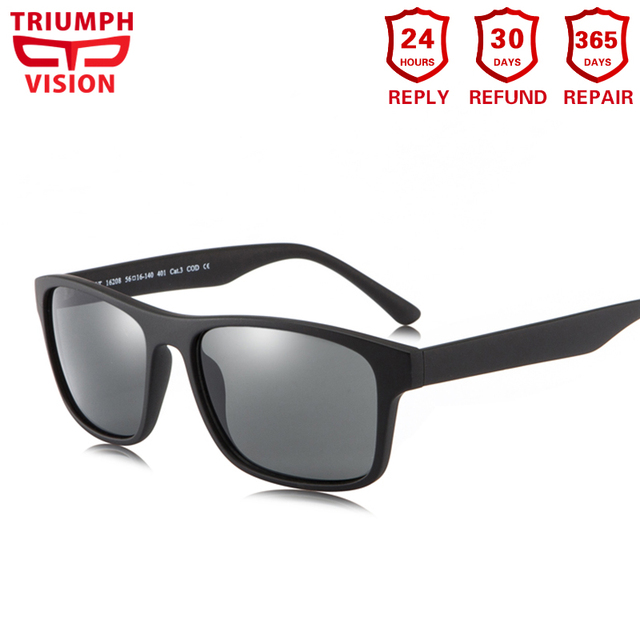 c0b193dbe3 TRIUMPH VISION Myopia Sunglasses Square Frame UV400 Driving Sun Glasses  Prescription Glasses Men Photochromic Polarized Lenses