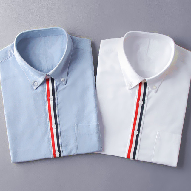 Новая коллекция весна и лето! лента сращивания Оксфорд спиннинг GD в то же джокер fashion бизнес мужские рубашки ТБ