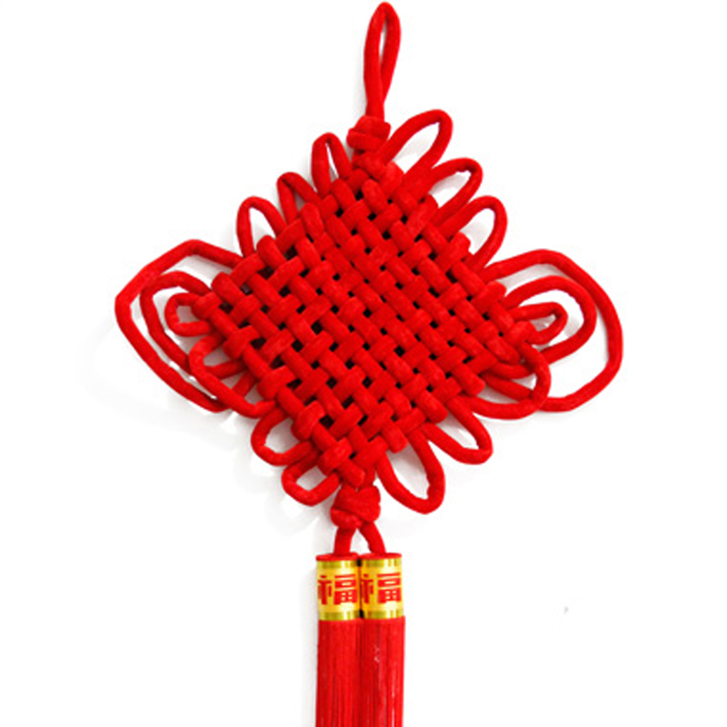 New 2017 Chinese Lucky Knot Cross Stitch Tassel New Year