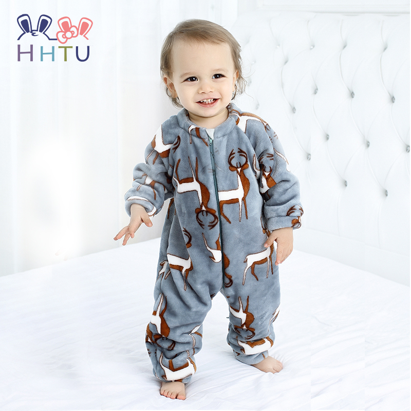 HHTU 2018 Infant Romper Baby Boys Girls Jumpsuit Newborn Clothing Hooded Toddler Baby Clothes Cute Elk Romper Baby Costumes newborn infant baby boy girl clothing cute hooded clothes romper long sleeve striped jumpsuit baby boys outfit