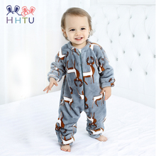 HHTU 2019 Infant Romper Baby Boys Girls Jumpsuit Newborn Clothing Hooded Toddler Baby Clothes Cute Elk Romper Baby Costumes