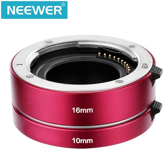 Neewer metal enfoque automático macro extension tube set 10mm y 16mm para el sony e de montaje de la cámara sin espejo nex 3/3n/5/5n/5r/a6000/a6300 + full
