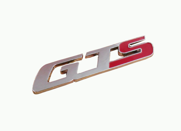 Auto Car chrome red GTS for Ghibli QUATTROPORTE Emblem Badge Sticker auto chrome for 2008 2013 genesis front rear wing emblem badge sticker