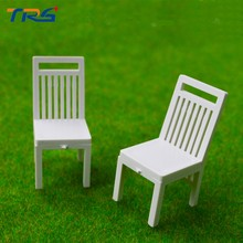 Teraysun architecture Scenery 1/25 ABS plastic Chair Miniature Scale Model Chair for model train layout(China)