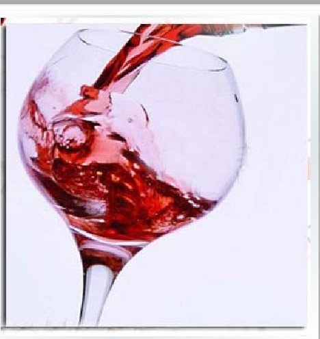 Abstract oil painting with wine glass wall art