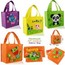 57ffaf864300 Забавные сумки ручной работы DIY Нетканая ткань шитье проект узор Сумки  Комплект Дети Искусство и ремесла