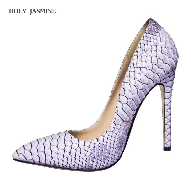 2017 New Women's Shoes Pointed Toe Sexy Serpentine Pumps Patent Leather Dress High Heels Boat Shoes Party shoes big Size 34-43 silver patent leather sexy ballet heels fetish shoes high heels pumps silver heels ladies party shoes 2017 ballet dance shoes