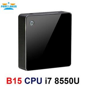 Image 5 - معالج انتل كور i7 من الجيل الثامن معالج i7 8550u كمبيوتر مصغر ويندوز 10 HDMI DP HTPC الرسومات ماكس إلى 32GB Ram 512GB SSD