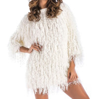 Warm Knitting Shaggy Winter Pullover Sweater Soft Female Faux Fur Knitted Sweater 2018 Hairy Faux Fur Loose White Pullover Tops