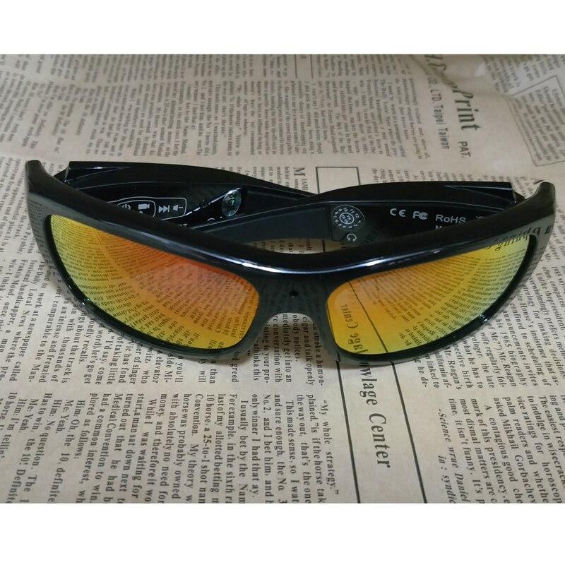 FOOANG HD caméra DV lunettes Anti-ultraviolet lunettes de soleil Bluetooth casque sport enregistreur de Conduite polarisées lentille mini caméscopes