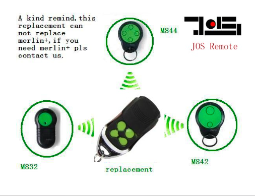 все цены на Merlin Green Button M842 M832 230t 430r Compatible GARAGE REMOTE 100% compatible онлайн