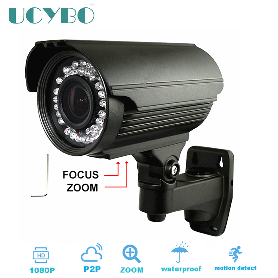 ФОТО cctv 2mp IP Camera 1080p HD 2.8-12mm varifocal zoom lens Onvif network outdoor IR night vision waterproof security camera WDR