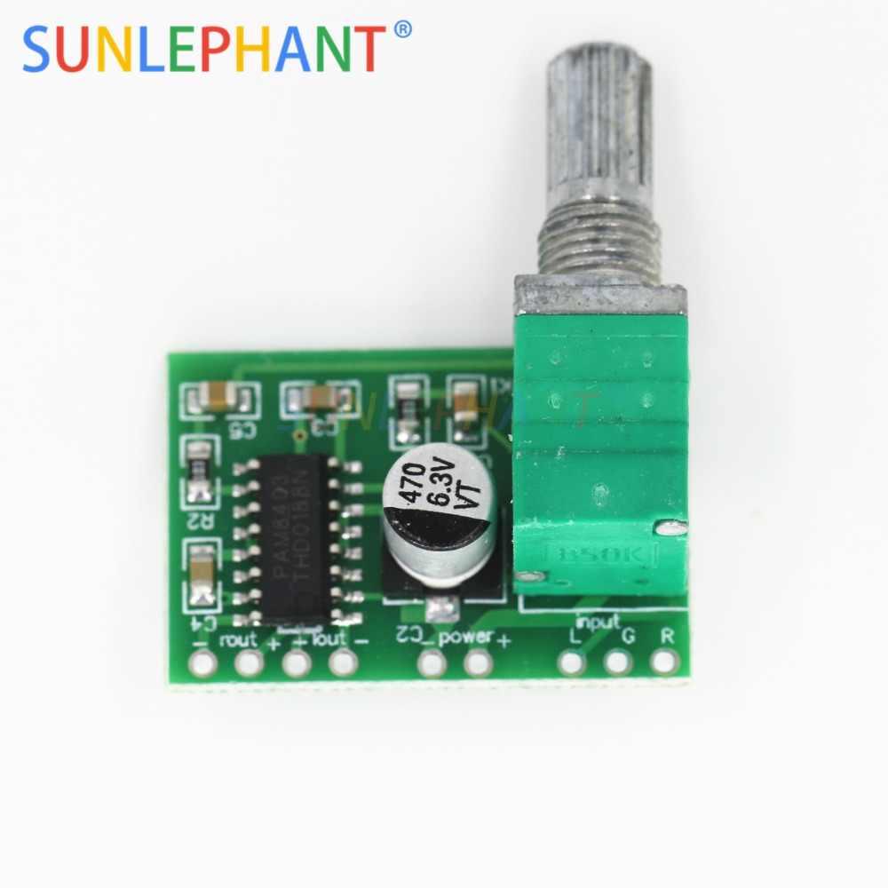 Mini PAM8403 DC 5V 2 canaux USB Module de carte amplificateur Audio numérique 2*3 W contrôle du Volume avec potentiomètre