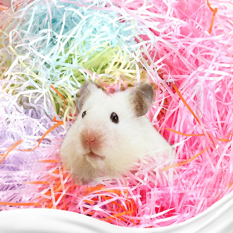 Hamster Cage Confetti Filling Raw Material Warm  Hamster Nest Supplies Substrate Nesting Animal Cage Bedding