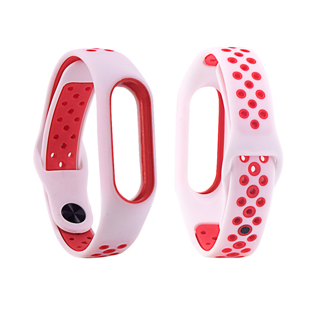 CRESTED Silicone sport Bracelet For Xiaomi Mi Band 2 Nike Strap Replacement Wristband Watchband For MiBand 2 Straps Accessories