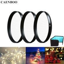 Caenboo 카메라 렌즈 스타 필터 37 40.5 46 49 52 55 58 62 67 72 77mm 크로스 4x 6x 8x 라인 렌즈 라이트 필터 백 canon nikon