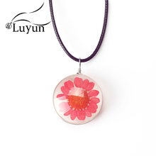 Luyun Fashion Jewelry Boho Natural Daisy Dried Flower Necklace Free Shipping