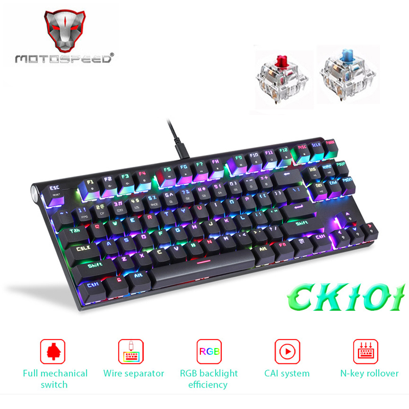 Motospeed CK101 USB Game Backlit Gamer Mechanical Keyboard With Backlight RGB For Computer PC Gaming Keycap
