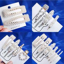 Korea Fashion 2-6Pcs/Set Pearl Hair Clip Body Pin Metal Snap Barrette Hairpin combination Beauty Styling Tools Hair Accessories fashion simple girls metal pearl hair clip combination elegant barrette pearls hairpin hair styling accessories wholesale
