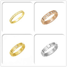 Sterling silver 925 classic popular original fashion simple design cool round inlaid zircon ladies ring jewelry holiday gift