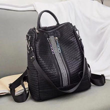 New Design Woman Backpack High Quality Youth Leather Backpacks for Teenage Girls Female School Shoulder Bag Backpack mochila цена 2017