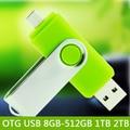 Usb 128 gb 256 gb de la capacidad verdadera 32 gb otg micro usb smart phone USB Flash Drives 64 GB Memory Stick Pen Drive Pulgar 512 GB 1 TB 2 TB