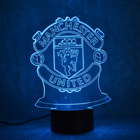 Creative 3D LED Night Light USB Futbol Table Lamp Home Decor Soccer Lighting Gift Bedside Sleep