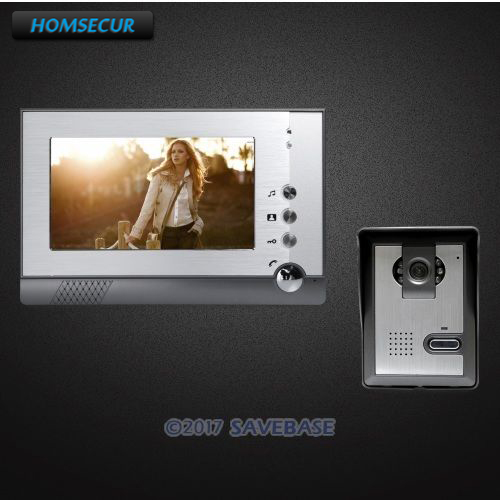 HOMSECUR 7inch Video Door Phone Intercom System with Dual-way Intercom for Home Security intercom system for home 7inch color ccd camera video intercom with electric lock door phone intercom video bell ip65 waterproof