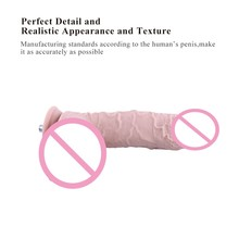 Sex machine Add on Accessories Odorless dildo 2 colors Length 24cm diameter 4cm Medical silicone penis sex toys