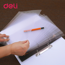 Deli two-hole file Holder set A4 transparent two-page folder office data certificate single-page clip loose-leaf bag Storage set gallianopage href page 1