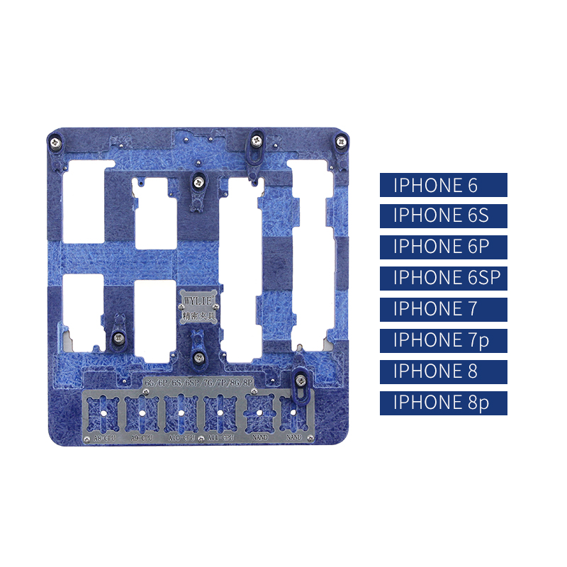 UANME 8 in 1 Motherboard Fixture IC Chip NAND Flash PCIE A8 A9 A10 A11 CPU Holder for iPhone 8p 7p 6sp 6p 6g BGA Repair Tool 2piece 100% new for ite it8517vg hxs bga ic for motherboard repair