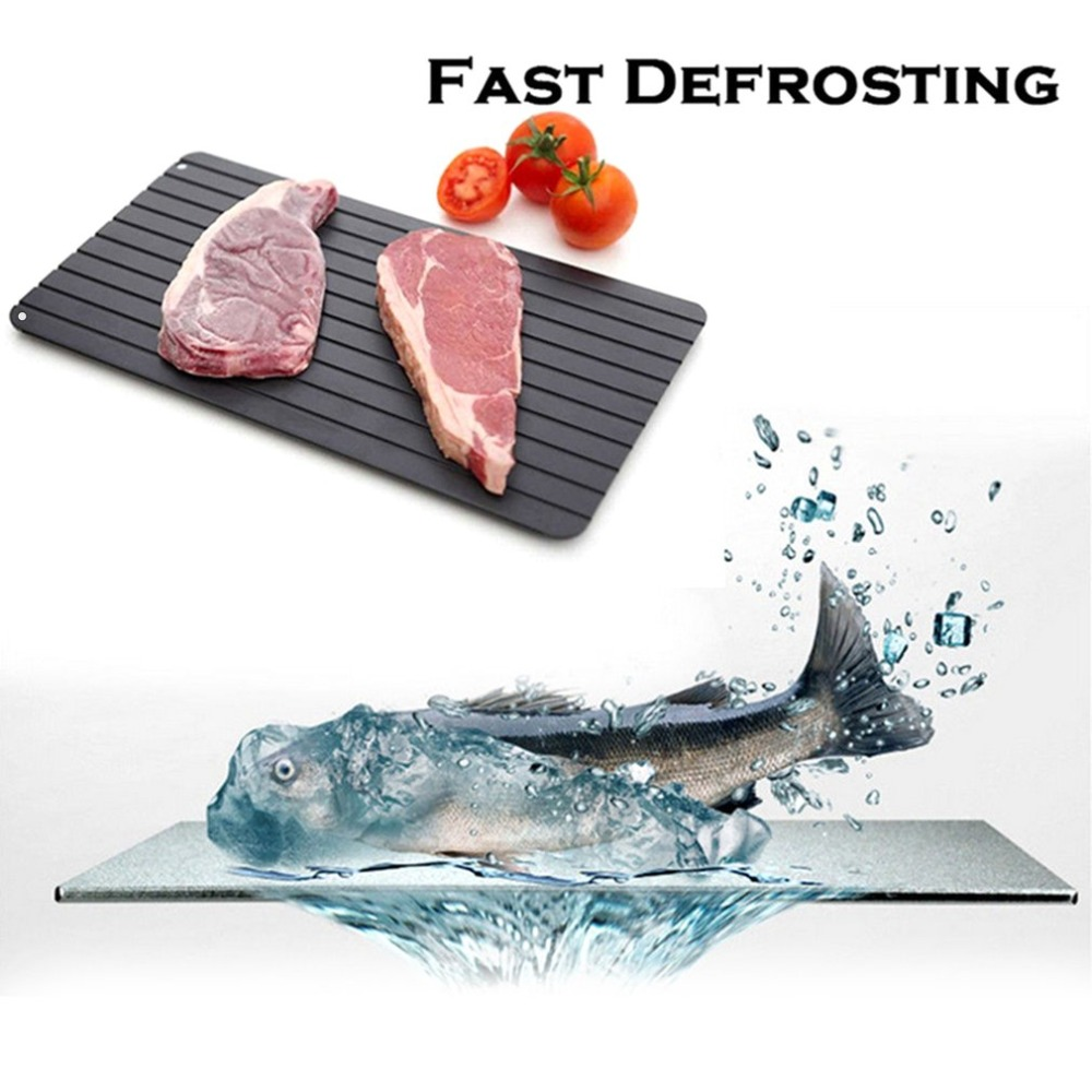 Household Frozen Food Quickly Defrosting Tray Fast Thawing Plate Board Kitchen Chef Cooking Tool Without Electricity Chemicals fast food leisure fast food equipment stainless steel gas fryer 3l spanish churro maker machine