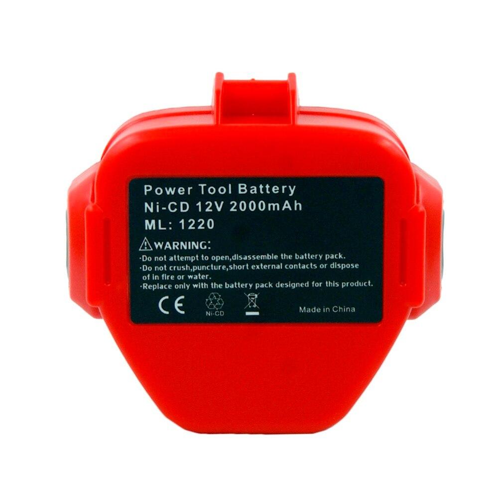 12 v NI-CD 2000 mah 2.0a substituição bateria para makita ferramenta elétrica sem fio pa12 1220 1222 1235 1233 s 1233sb 1235a 6271d