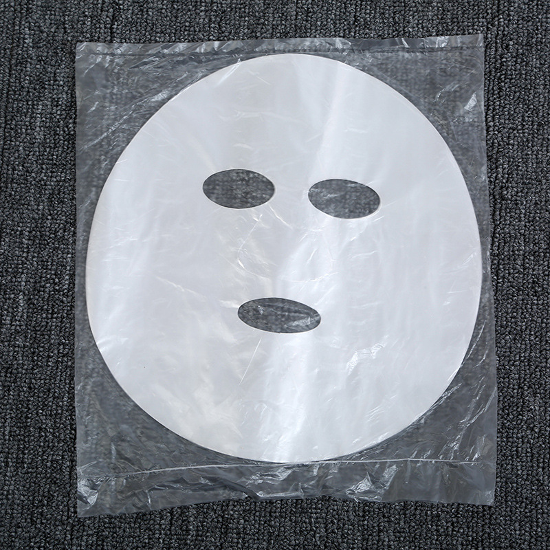 100Pcs/lot Disposable PE Film Skin Care Full Face Cleaner Mask Paper  Plastic Paper Masks Facial Beauty Tool