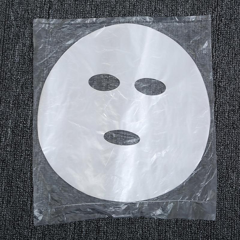 100Pcs/lot Disposable PE Film Skin Care Full Face Cleaner Mask Paper  Plastic Paper Masks Facial Beauty Tool