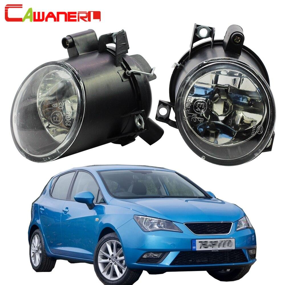 Cawanerl 2 X Car Accessories 100W H3 Fog Light Halogen Bulb Daytime Running Lamp 12V For Seat Altea Toledo Leon Ibiza Cordoba