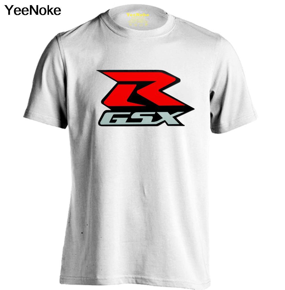 GSX Красный R мотоцикл SUZUKI мужские и женские белая футболка Повседневная Круглый воротник футболка