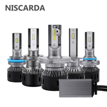 Niscarda NEW 2PCS H4 LED H7 H11 H8 H1 H3 Car Headlight Bulbs 60W 9800LM 9005 9006 6000K Headlamp 12-24V Auto Fog Light