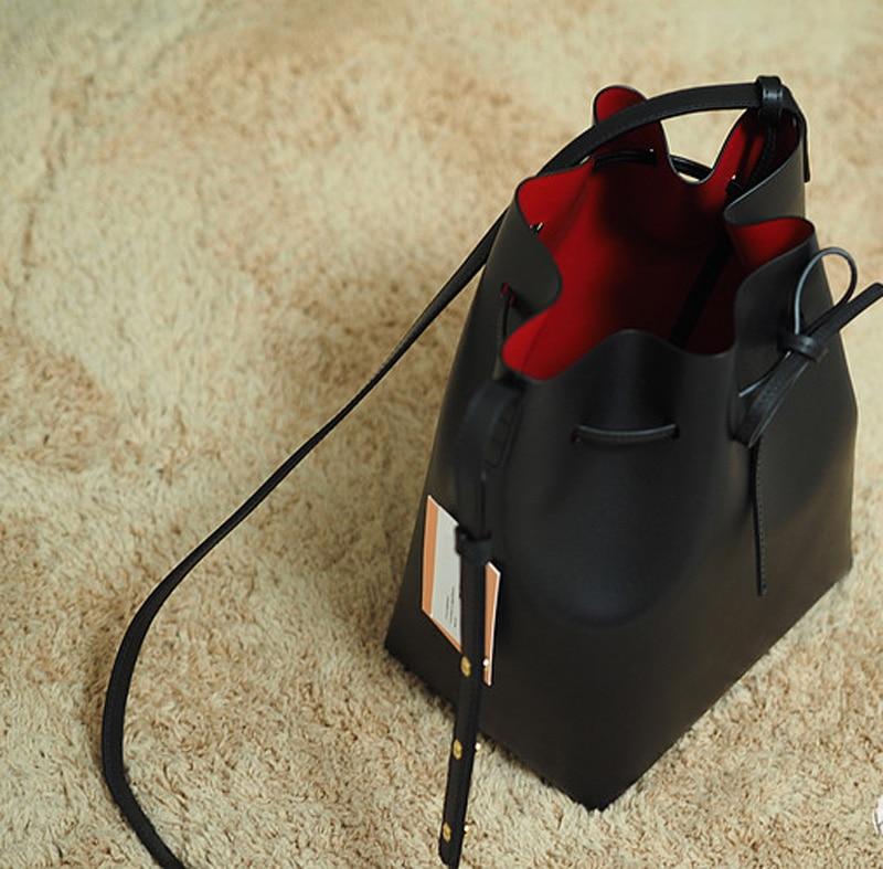 luxo bolsa de ombro para Material Principal : Couro Genuíno
