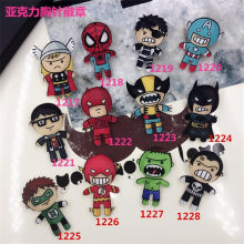 Acrylic Petir Kostum Lencana Spider Man Raytheon batman Superman Captain America Green Lantern Bros XZ12(China)