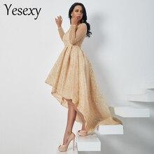 Yesexy 2019 Для женщин пикантные с круглым вырезом и длинными рукавами платья с блёсками женский Вечеринка Макси элегантное платье vestdios VR18495