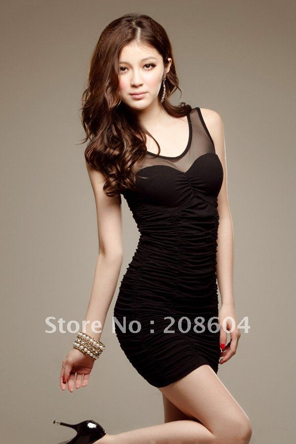 2012 Fashion New Tyle Hot Sale Free Shipping Summer Dress,Show Thin,Woman One Piece -3670