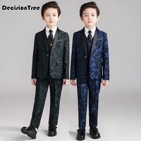 2019 new kids suits blazers baby boys shirt overalls coat tie suit boys formal wedding wear cotton children clothing