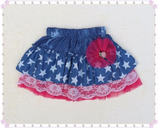 baby girl clothing girls skirts denim children embroidery flower kids mini casual Jeans tutu skirts baby christmas clothing