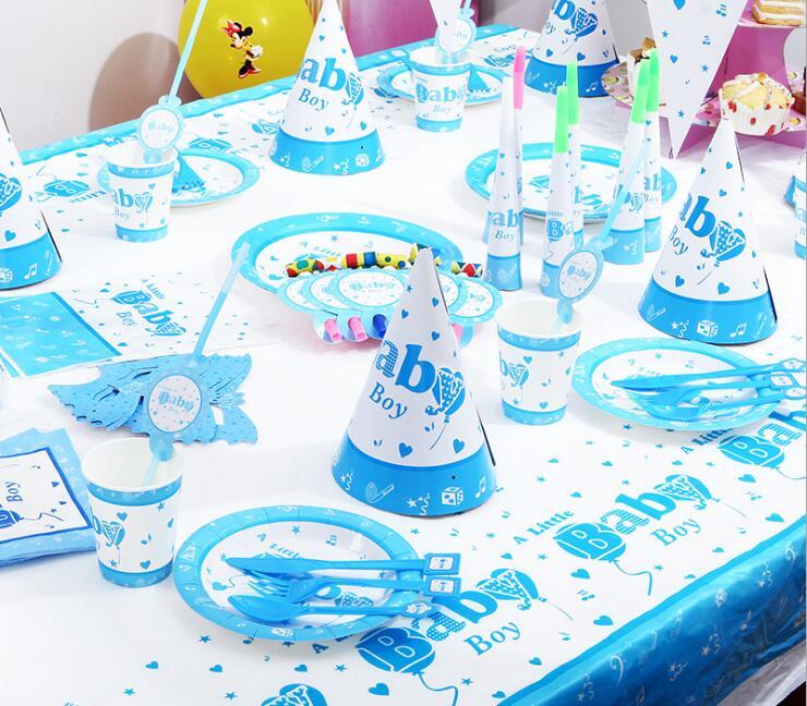 Birthday Party Decoration Disposable Tablewear Set Kids