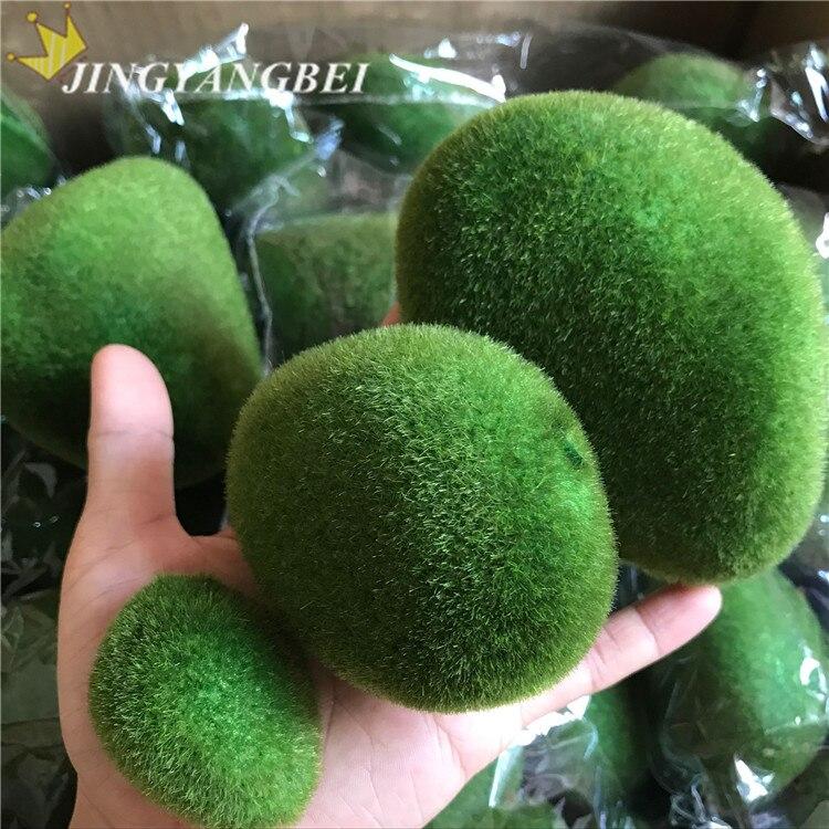 Искусственные камни покрытые мхом, 6 шт./пакет S + M + L, травка для растений, домашний сад бонсай, украшения «сделай сам» в горшках|artificial moss|moss stoneartificial moss stones | АлиЭкспресс