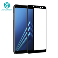 Nillkin Black 9H 3D CP Max Imported AGC Glass For Samsung Galaxy A8 2018 Full Coverage