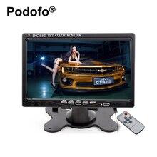Podofo 7 pulgadas LCD Monitor Del Coche Del Rearview Pantalla HDMI VGA DVD Pantalla Digital Resolución HD Cámara de Reserva Del Coche + Remote Control