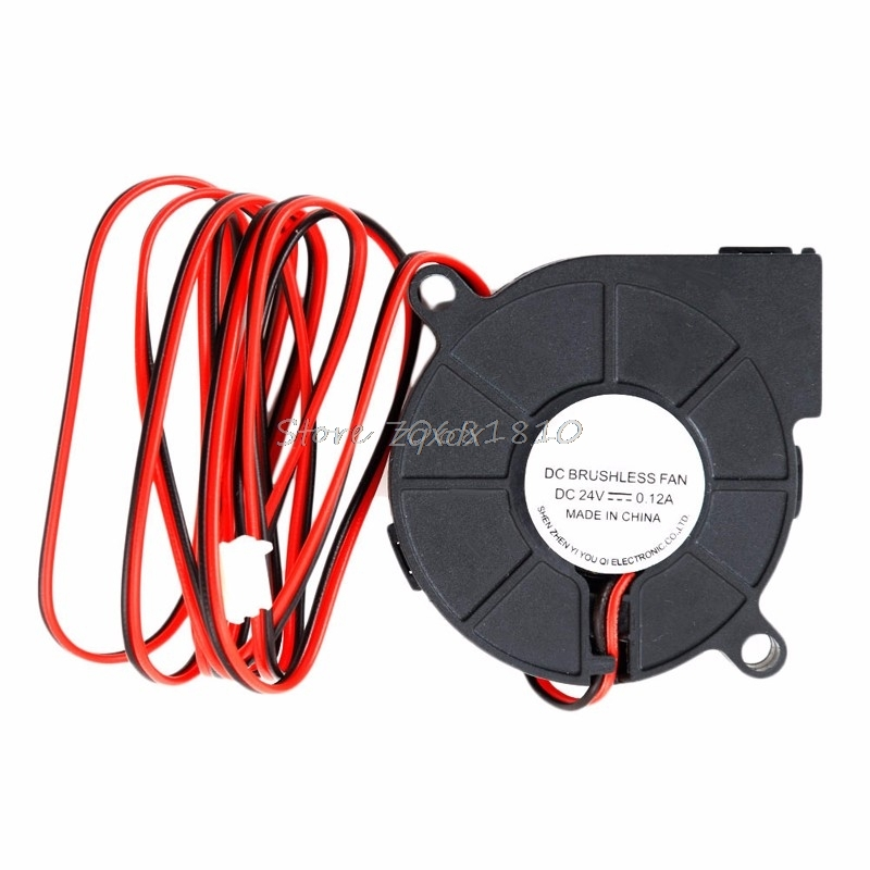 24V Brushless DC Cooling Turbine Blower Fan 5015 50*62*15mm Durable New Z17 Drop ship dc 12v ultra quiet mid speed brushless dc blower black brushless dc cooling blower fan 2 wires 5015s 0 06a 50 15mm